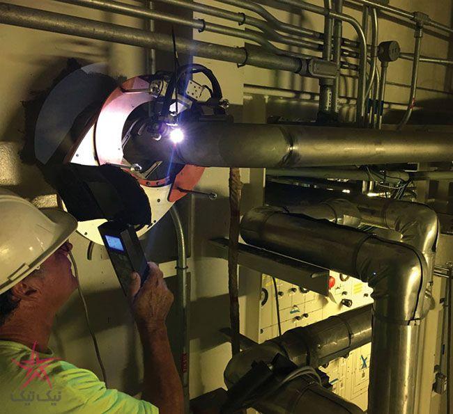 کمک دستگاه جوشکاری دوار به پروژه سیستم لوله کشی در سکوی پرتاب راکت