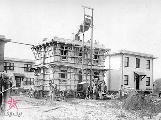 ساخت خانه بتنی فقط با یک بار بتن ریزی توسط توماس ادیسون!