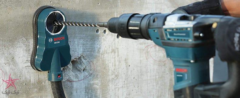 تجهیزات غبارگیری بوش برای جمع آوری گرد و خاک هنگام کار با بتن