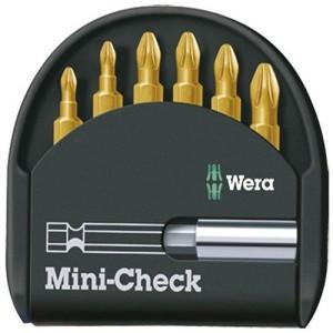 ست سرپیچ گوشتی مینی چک تین 6 تکه تین چهار سو دوسو و پزیدرایو ورا Mini-Check TIN PH به همراه نگهدارنده سری 25 میلی متر