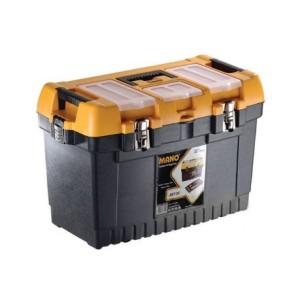 جعبه ابزار بلند با قفل فلزی به همراه اورگانایزر JMT-22  سایز 22 اینچ مانو