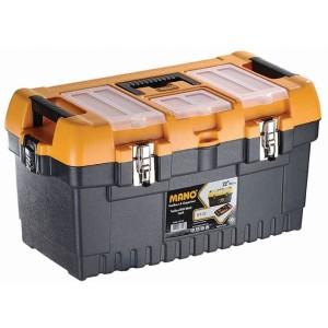 جعبه ابزار با قفل فلزی به همراه اورگانایزر  MT22 سایز 22 اینچ مانو