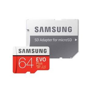 کارت حافظه microSDXC سامسونگ مدل Evo Plus کلاس 10 استاندارد UHS-I U3 ظرفیت 64 گیگابایت