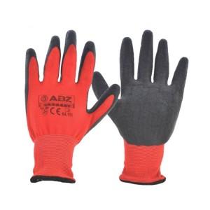 دستکش ایمنی پلی استر با پوشش لاتکس ای بی زد GL112S