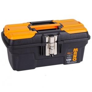 جعبه ابزار بلند با قفل فلزی به همراه اورگانایزر MG-13 سایز 13 اینچ مانو