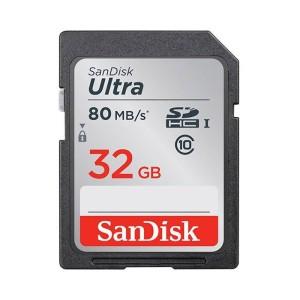 کارت حافظه SDHC سن دیسک مدل Ultra کلاس 10 استاندارد UHS-I U1 ظرفیت 32 گیگابایت