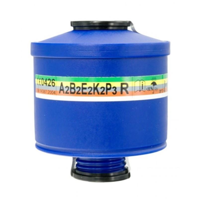 فیلتر ماسک شیمیایی 5 حالته A2B2E2K2P3R برند Spasciani